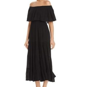 ELAN Off-The-Shoulder Black Maxi Dress
